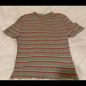 Short sleeve stripped top